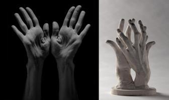 A. Rodin, Assemblage, deux mains gauche, dites Les Main n°2, plâtre, S 1272, Musée Rodin. Photo/Christian Baraja.