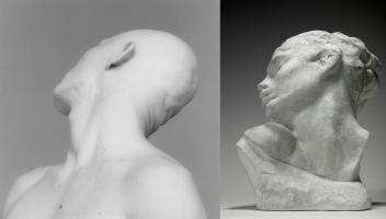 A. Rodin, Tête de la luxure, plâtre, 1882, S 1825, Musée Rodin. Photo/Christian Baraja.