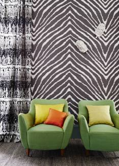 Illusion, Temple of Dawn, Jim Thompson wallcoverings