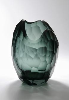 Glacier Vase in Smoke