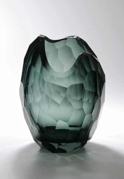 Glacier Vase in Smoke