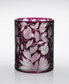 Verdure Round Cylinder Vase in Purple