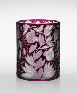 Verdure Round Cylinder Vase in Purple