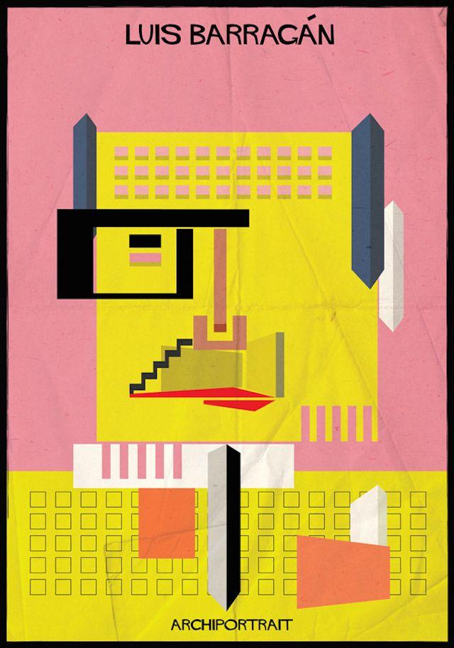 Archiportrait Luis Barragán illustration Federico Babina