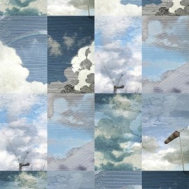 Dutch Sky Wallpaper by LITTLE OWL DESIGN
