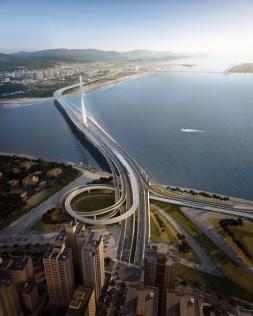 Projet non finalisé du plus long pont asymétrique au monde