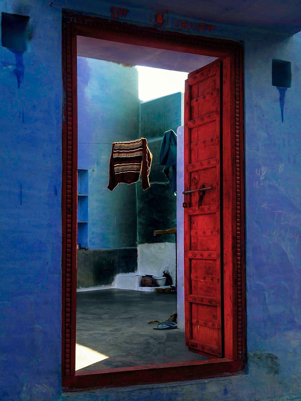 Cour Kishangarh, Jodhpur, Inde, gildalliere, 2004