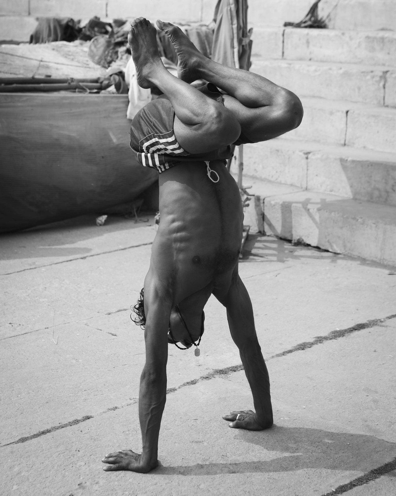 Yoga, Varanasi, 2008, Inde, gildalliere