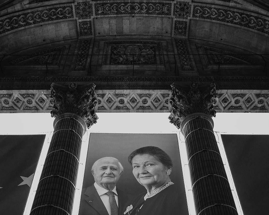 Hommage à Simone et Antoine Veil, Panthéon, Paris, 2018, gildalliere