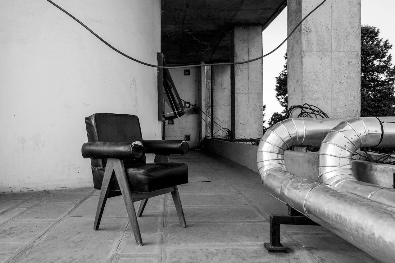 pj-si-32-c, fauteuil Le Corbusier,Chandigarh, india, gildalliere, 2010
