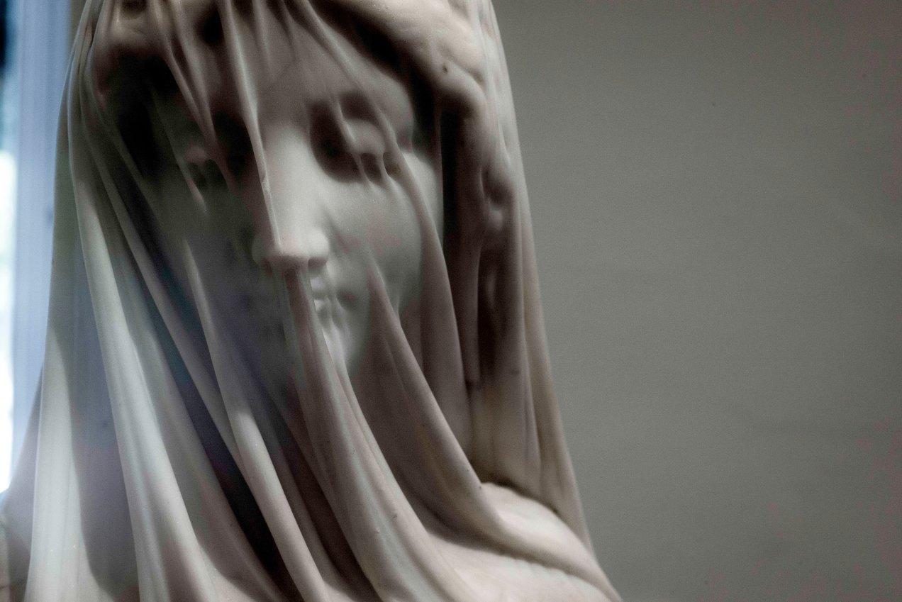 Vierge voilée, Giovanni Strazza, musée cheret, Nice, gildalliere, 2019