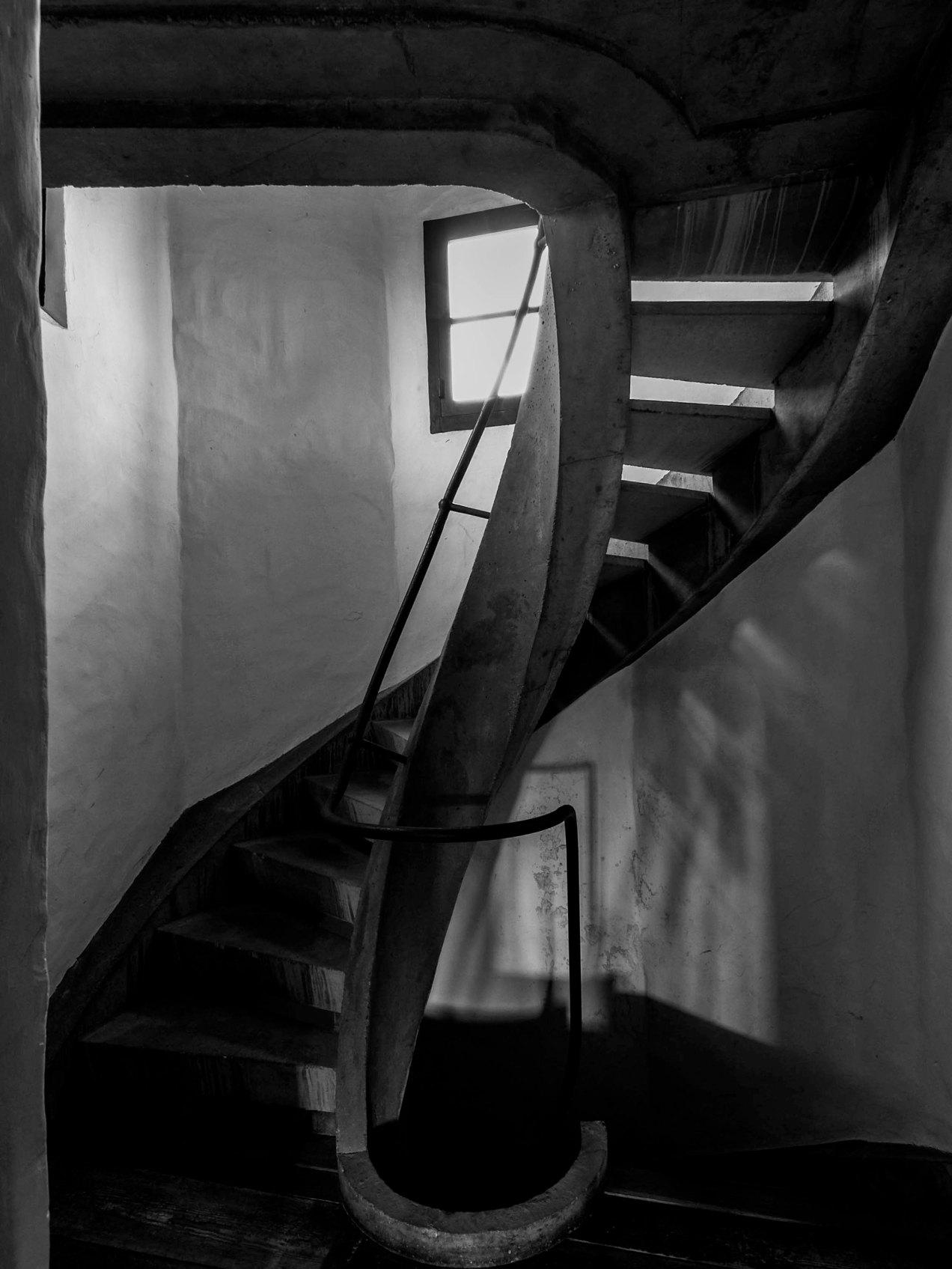 Escalier, béton, Anvers, Belgique, Boris Vervoordt, gildalliere, 2006
