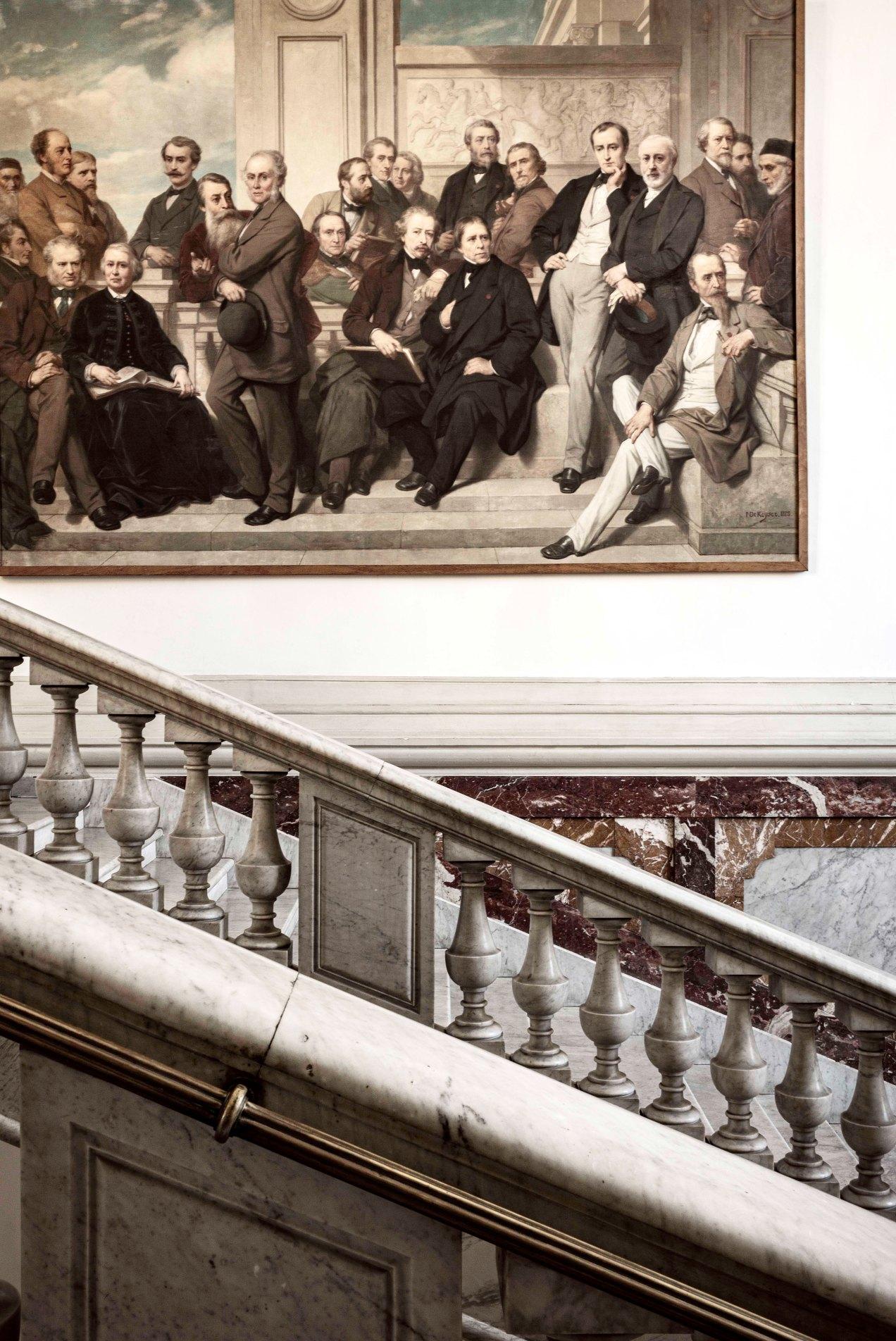 Grand escalier du musée Chéret, Nice, gildalliere, 2019