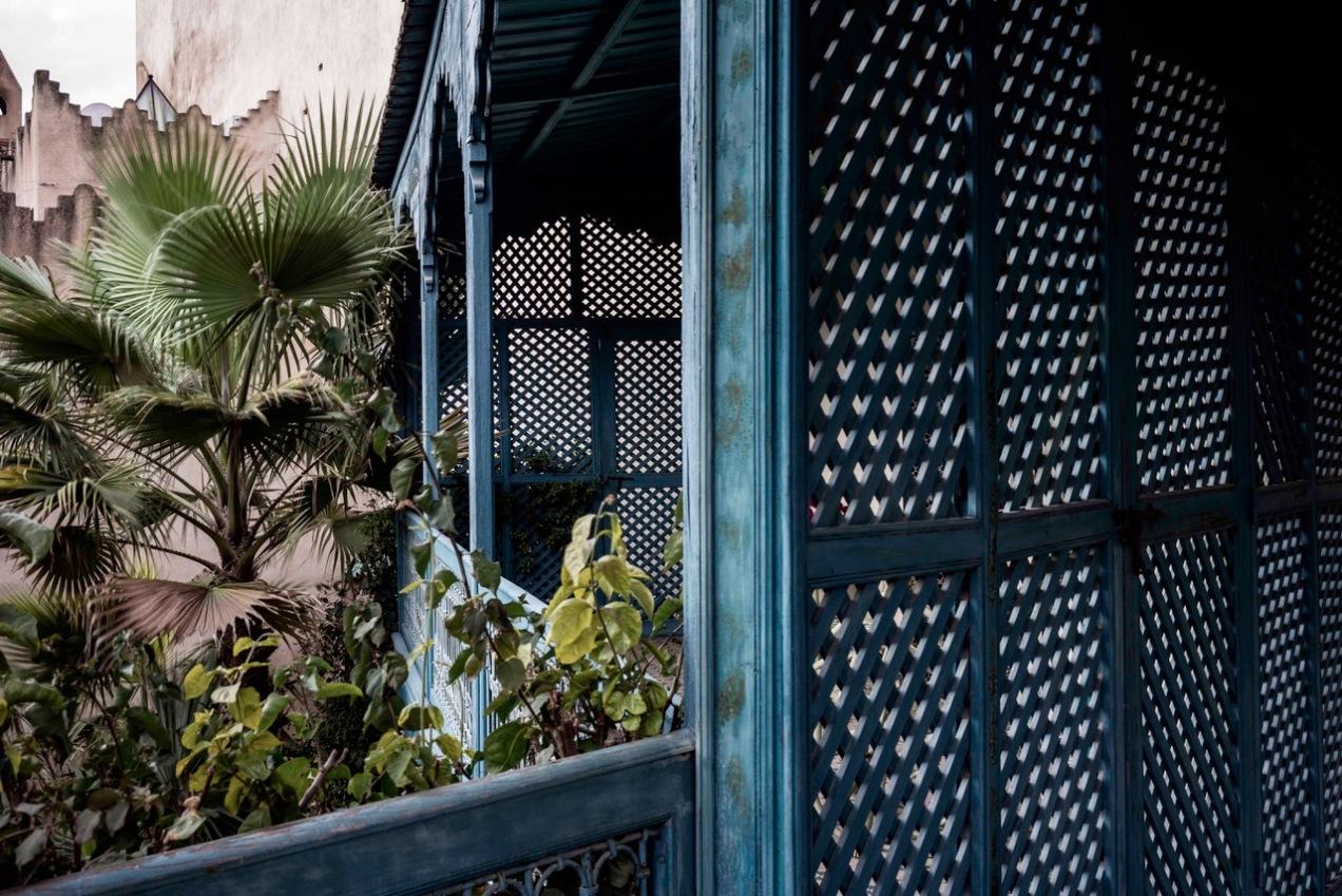 Claustras des sultanes, jardin des Biehn, Fès, Maroc, 2020