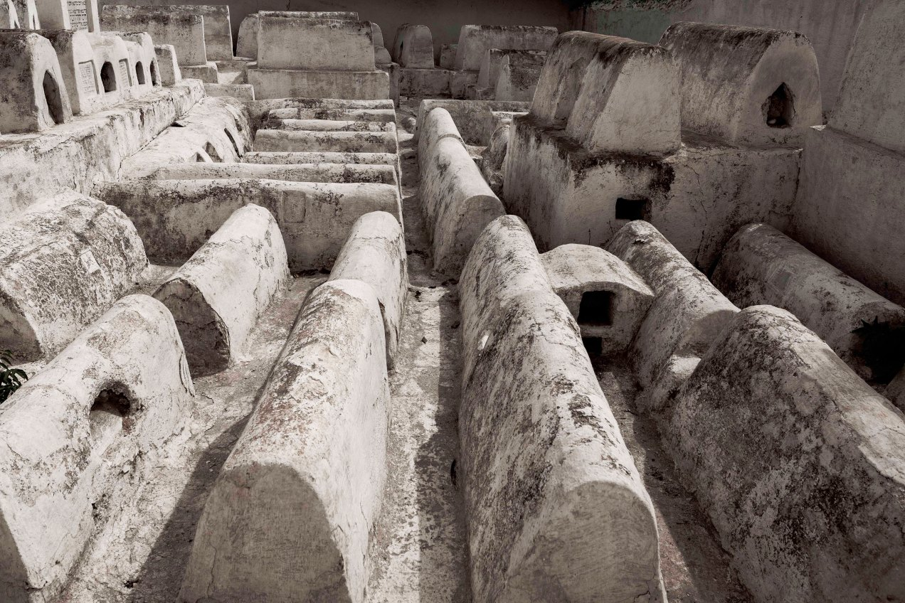 Cimetière du Mellah, détails, Fès, Maroc, gildalliere, 2020