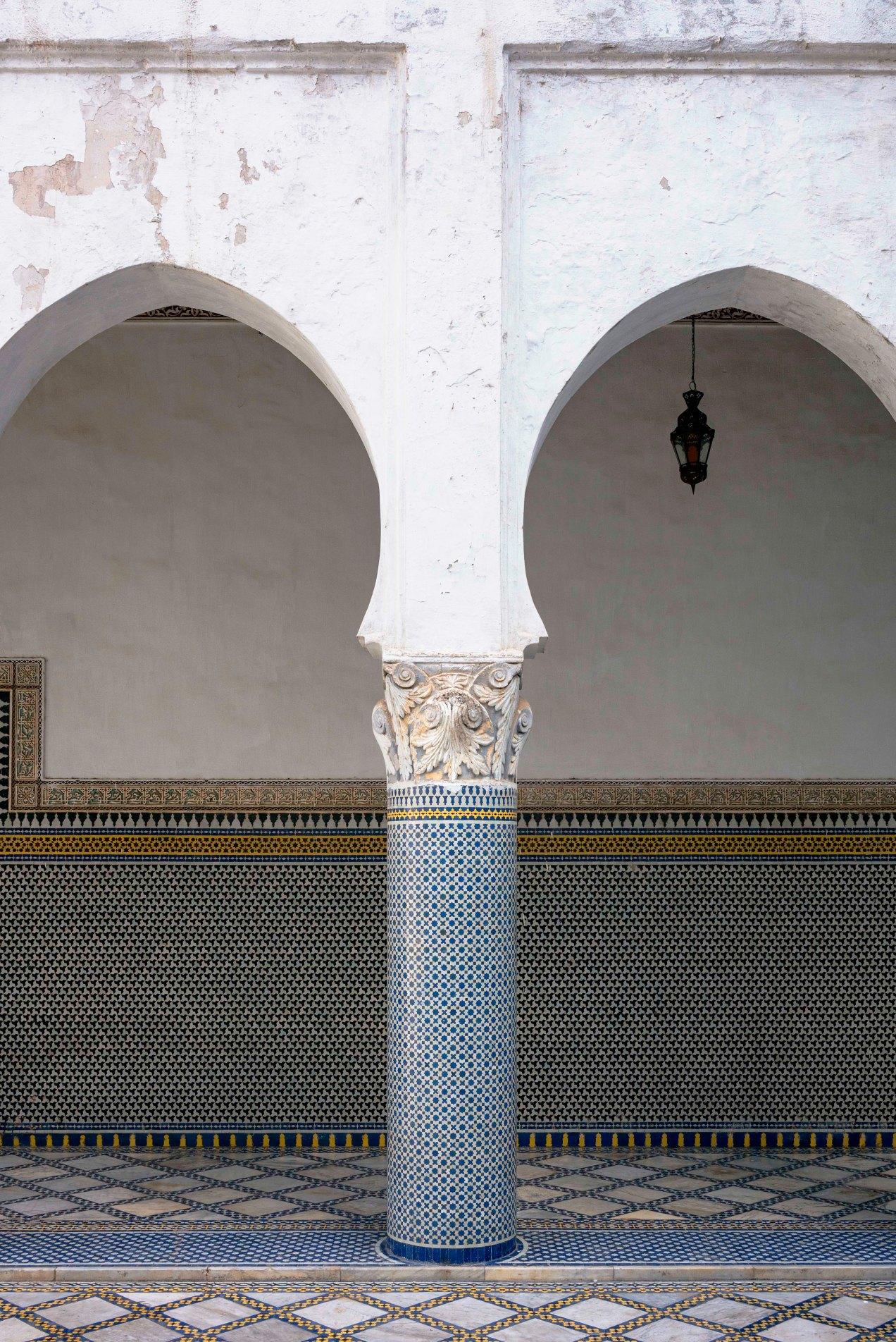 Coursive, palais El Mokri, Fès, Maroc, gildalliere, 2020
