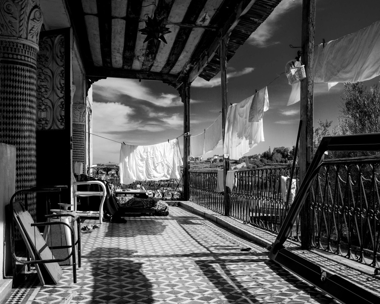 Etentage, palais El Mokri, Fès, Maroc,  gildalliere, 2020