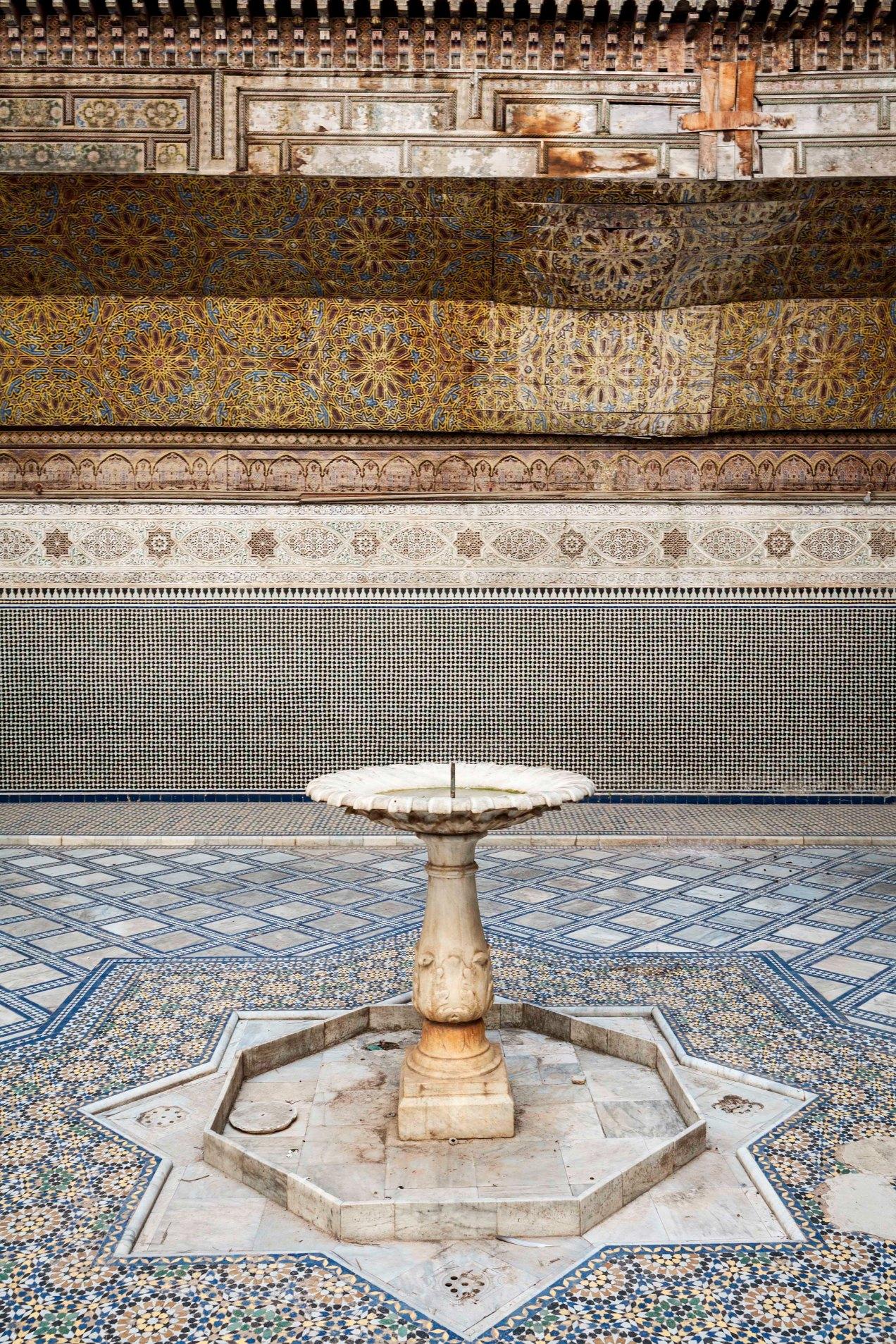 Palais El Glaoui, fontaine, Fès, Maroc, gildalliere, Fontaine, 2014