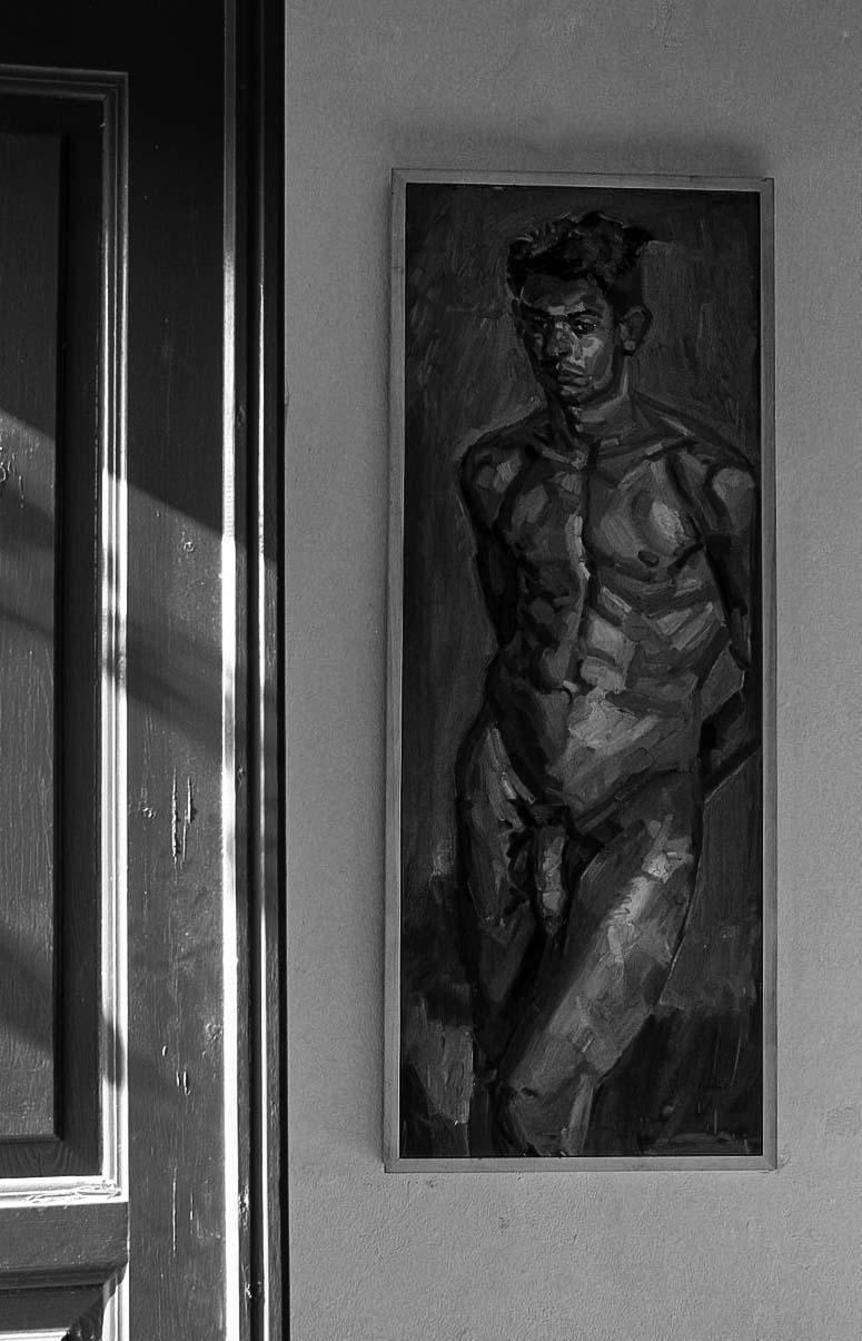 Castro nu masculin exposition, Folegandros, gildalliere, 2006