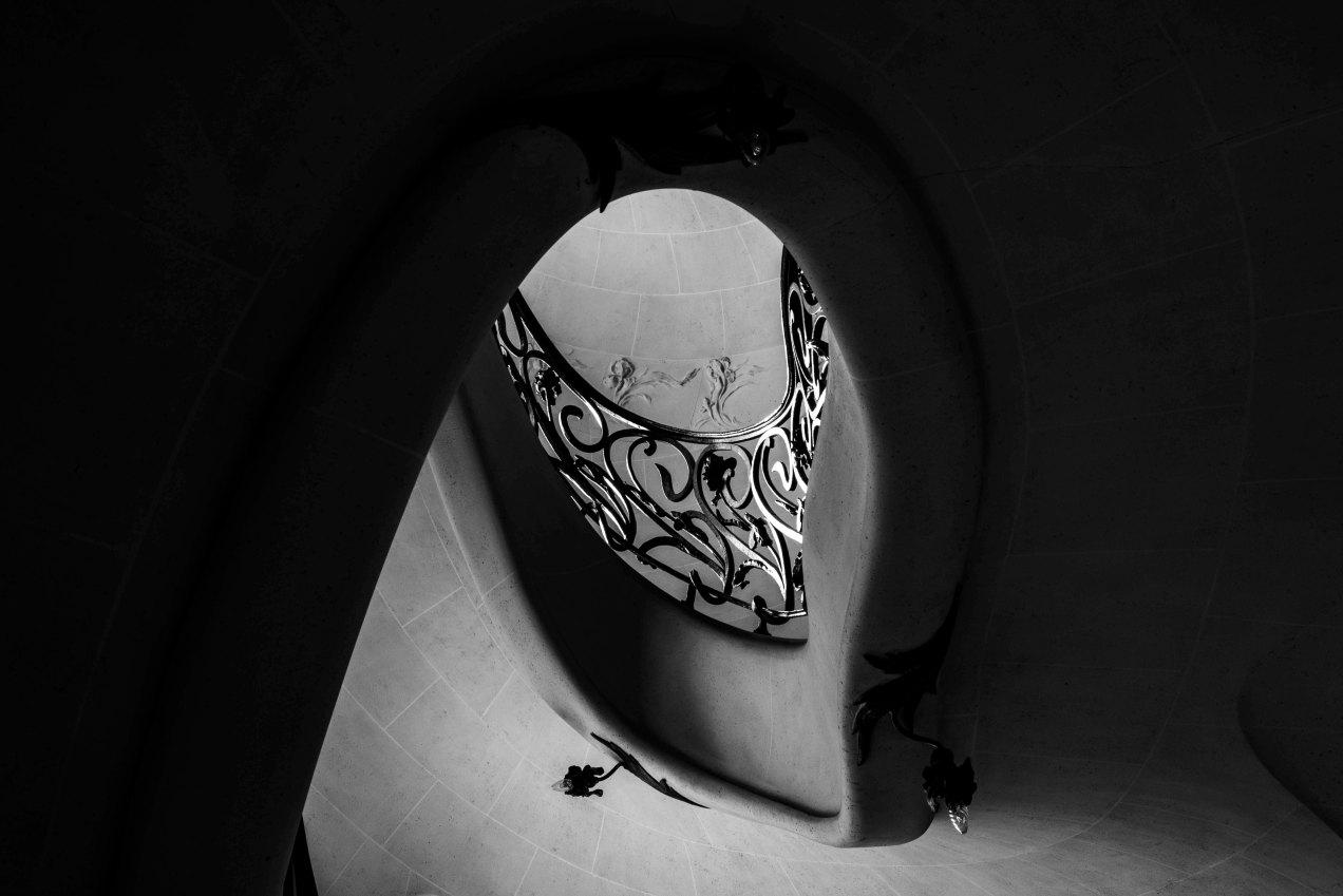 Escalier, 1900, 29 boulevard des Batignoles, Paris, gildalliere, 2020