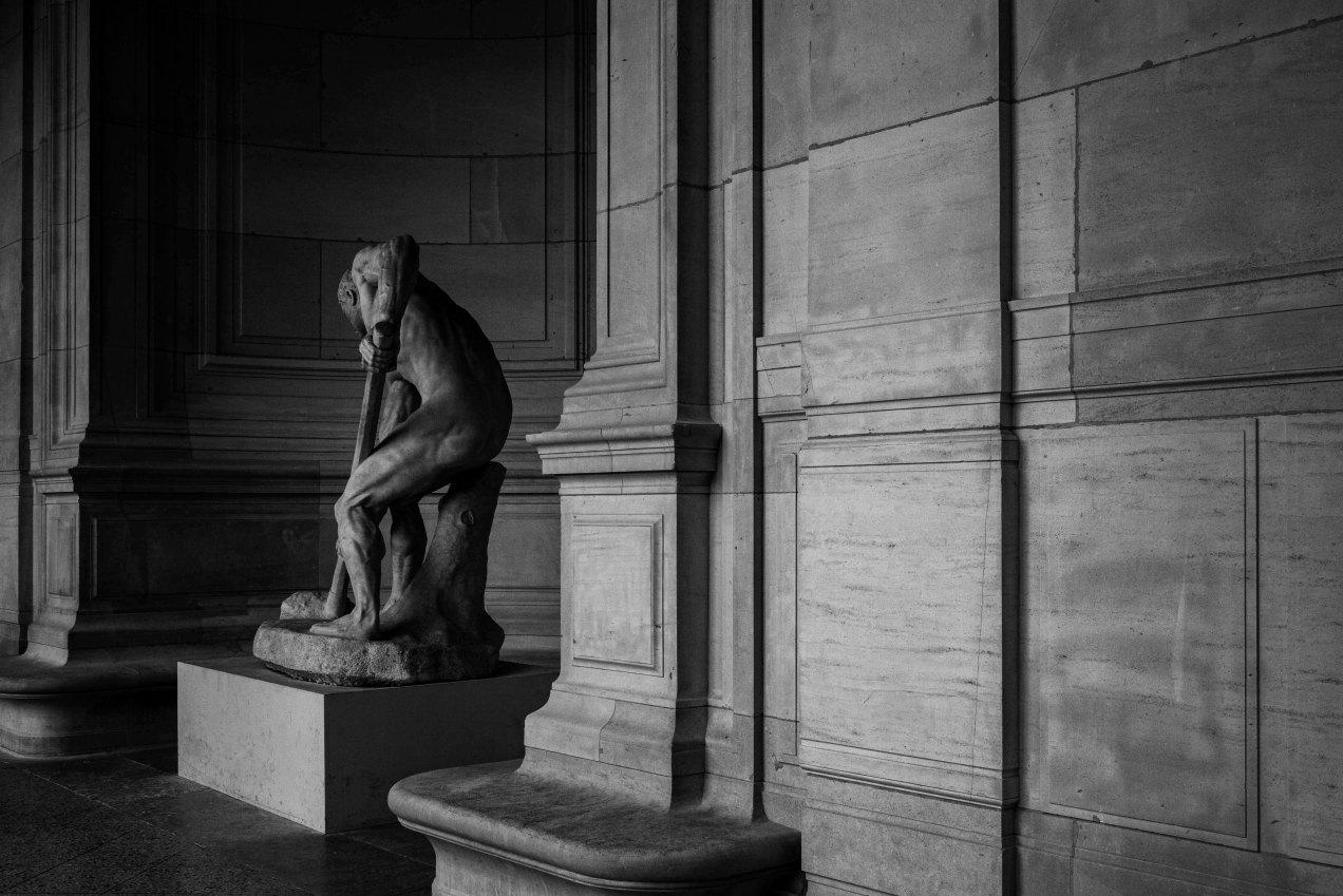 Terrassier au travail, Alfred Boucher, 1850-1934, le muscle et l'effort, gildalliere, musée Galliera, Paris, été 2020